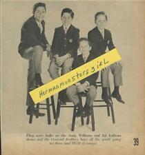 1964 FOUR YOUNG OSMOND BROTHERS MAGAZINE AD ARTICLE CLIPPING