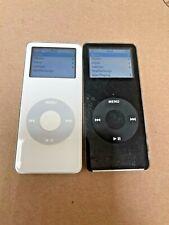 Lot 2 Apple iPod Nano First 1st Generation Gen A1137 Black White 2Gb 4Gb