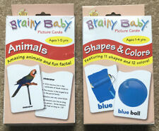 2 Boxes of Brainy Baby Picture Cards: Animals and Shapes & Colors