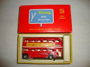 TRIANG MINIC MOTORWAYS M.1545 DOUBLE DECKER BUS (SHELL) - EXCELLENT in orig BOX