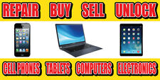 2'x4' We Buy, Repair, Sell, Unlock Cell Phones Banner Sign Fix Screen Pawn