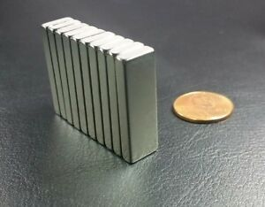 10 Neodymium N42 Block Magnets Strong Rare Earth 30mm x 10mm x 4mm DEFECTS