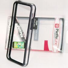 custodia bumper plastica PVC e SILICONE TPU NERO e trasparente per iPhone 5C
