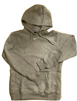 Nike Grey Fleece Hooded Sweatshirt Centered Swoosh Travis Scott Hoodie