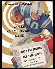 Packers & Giants 1961 Championship Game Poster (Game Program Cover) - 8x10Photo