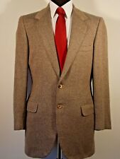 Oxxford Clothes 2 button beige & gray wool sport coat, 40T, 40L, heavy weight