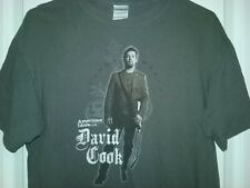 David Cook American Idols Live Tour 2008 tee shirt, gray, mens' fit Medium