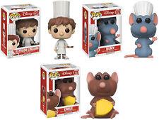 Funko POP! Disney ~ RATATOUILLE VINYL FIGURE SET ~ Alfredo Linguini, Emile, Remy