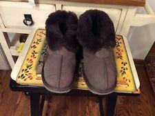 Emu Australia Slippers Suede Wool lining Unisex Mens Sz 9/ Women's Sz 10