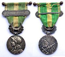 Médaille Commémorative du Maroc. Agrafe HAUT-GUIR. Argent. 1909-1912. France