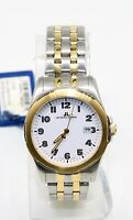 Jacques Lemans 1-1019K Men's Silver Gold Stainless Steel Swiss Made Watch NEW