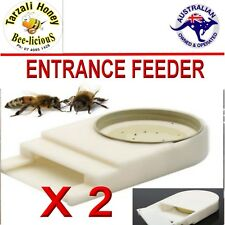 BEE FEEDER BOARD MAN STYLE ENTRANCE FEEDER X 2  IDEAL FOR FLOW HIVES  BEE HEALTH
