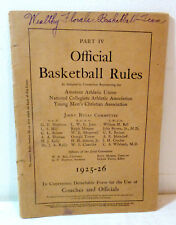 """1925-26 """"Official Basketball Rules"""" booklet; Grand Rapids, Michigan"""