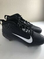 Nike Force Trout 5 Pro Metal Baseball Cleat Size 7.5 Black White AH3372-010 New