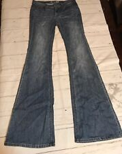 "London Jeans Light Blue Stretch Sz 4 Bellbottom Flare Boho Jeans Inseam 36"""
