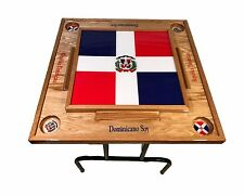 Dominican Republic Domino Table With the Full flag
