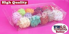 "50 pcs 2-5/8x1-5/16x1-1/8"" Clear Tuck Plastic PVC Boxes Gift Party Wedding Favor"
