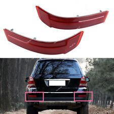 L+R Rear Bumper Reflector Cover Red For Mercedes-Benz GL-Class GL320 GL450 GL550