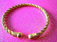 Twisted Gold Cuff Bracelet