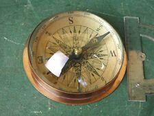 Großer Kompass Altmessing mit Glas Halbkugel sehr Schön Navigation Bussole