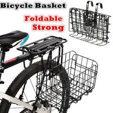 Black Wire Mesh Front/Rear Folding Bike/Bicycle Shopping Storage Basket Hanging