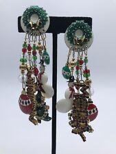 Vintage Lunch At The Ritz Clip-on Earrings ~Have A Merry Christmas~