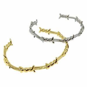 Barbed Wire Steel Bracelet l FREE UK Post l Thorns Titanium Gold Silver Bangle