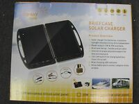 NEW Foldable 13 Watt Solar Charger Briefcase Portable Solar Panel 12v off Grid