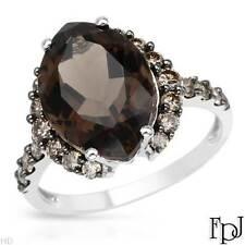 FPJ 14k White Gold Cocktail Ring w/ Genuine Diamonds & Topaz, 6.06 ctw, Size 7