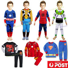 New Boy Pyjamas Sleepwear Long Sleeves Superheros Pyj Set Size 2,3,4,5,6,7