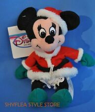 Minnie Mouse Santa Disney Mini Bean Bag Toy Plush Tags Mrs Claus Christmas