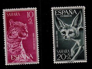 SPANISH SAHARA  SCOTT# B60-B61  MH  ANIMAL TOPICAL