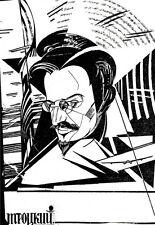 Arte cartel-Leon Trotsky-Soviética Deco A3 impresión