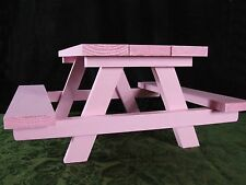 "18"" Doll Furniture Picnic Table Handmade for American Girl Sized Dolls -Painted"