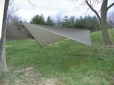 Ultra Light Weight Silnylon Asym Asymmetrical Hammock Tarp - Dark Olive