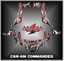 Can-am Commander 800 1000 Canam Can am  SEMI CUSTOM GRAPHICS KIT CW3