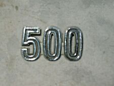 A Vintage 1969-72 Ford Falcon XW, XY 500 Number 1/4 Guard or Boot Badge  64291B3