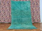 Authentic Vintage Mguild Moroccan Handmade Rug 4ft11x7ft10 Muted Shades of Green