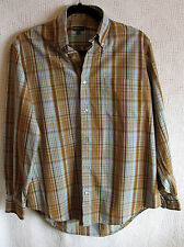Henry Cotton's 100% Cotton Long Sleeve Button Front Shirt Size S