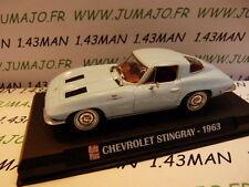 Voiture 1/43 IXO AUTO PLUS : CHEVROLET Stingray 1963