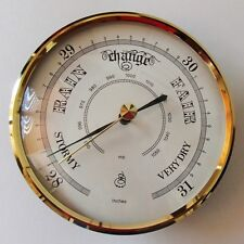 100mm Gold Bezel Barometer White Dial Fit-up/Insert, Weather Instruments