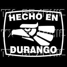 Hecho En Durango DGO  Estado de Mexico State  Aztec Aguila Decal   Sticker