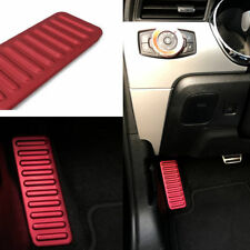 Red Aluminum Left Foot Rest Pedal Frame Cover Trim For Ford Mustang 2015-2017 #B