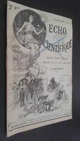 Echo Científica Revista Dos Veces Al Mes L. Soucaret 1896 N º 12 G. Davis París