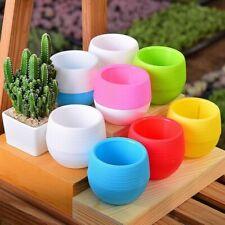 Round Succulent Planter Pot Bonsai Cactus Flower Garden Container Home Office
