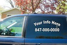 (2) 2 Line Side Custom Window Business Truck Car Vehicle Vinyl Lettering Decal