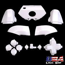 Custom RT LT RB LB Dpad ABXY Buttons Kits For Xbox One Controller - Glossy White