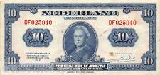 Nederland - Netherlands 10 Gulden 1943 II Wilhelmina Pn 44-1 DF025940