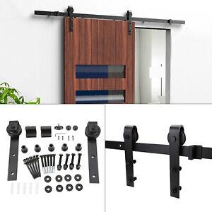 6.6FT Sliding Barn Wood Door Hardware Steel Slide Closet Rail Track Set Kit Home