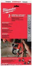 Milwaukee 3st. bi-Metal cintas de sierra, bandas de sustitución, para hd18 BS, accesorios 48390529